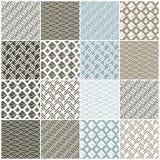 Modèles sans couture géométriques : les places, lignes, ondule illustration de vecteur