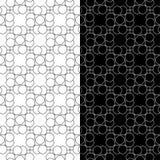 Modèles sans couture géométriques noirs et blancs Photos libres de droits