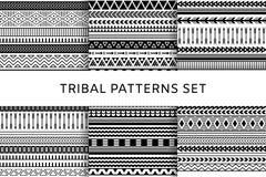 Modèles sans couture indiens tribals de boho ethnique réglés photographie stock