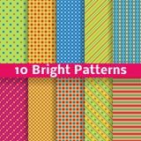 Modèles sans couture lumineux géométriques abstraits Photos stock