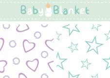 Modèles sans couture pour la conception de couverture de bébé Images stock
