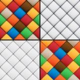 Modèles sans couture réglés de patchwork illustration libre de droits