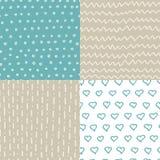 Modèles sans couture tirés par la main abstraits réglés Texture simple pour le backround, le tissu ou d'autres types de conceptio Image libre de droits