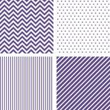 Modèles sans couture ultra-violets Chevron, barré Photographie stock