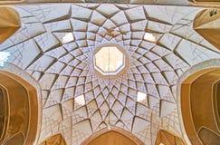 Modèles stellaires de soulagement de Chambre d'Abbasi, Kashan, Iran photo libre de droits