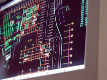 Modèles sur l'écran Images stock