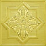 Modèles sur les feuilles de gypse de plafond de fleurs Images stock