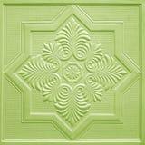 Modèles sur les feuilles de gypse de plafond de fleurs Photographie stock libre de droits