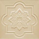 Modèles sur les feuilles de gypse de plafond de fleurs blanches Images libres de droits
