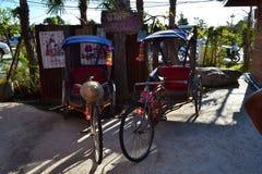 Modèles thaïlandais de tricycle Photos libres de droits