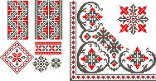 Modèles traditionnels roumains illustration libre de droits