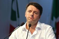 MODÈNE, Italie, septembre 2016 : Matteo Renzi, convention de Parti démocrate adroite publique de conférence Photo stock