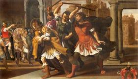 Modène - la peinture de vivant et du martyre de St SebastiAn en Di Santa Maria della Pomposa de Chiesa d'église photo libre de droits