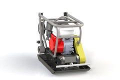 modélisation 3D d'un plat de vibration de construction avec un moteur à combustion interne à deux temps illustration de vecteur