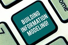 Modélisation de construction de l'information des textes d'écriture Le concept signifiant un 3D intelligent modelbased la clé de  image stock