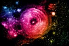 Modélisation des étoiles dans le bel univers Photos libres de droits