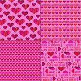Mod在桃红色的情人节样式 库存例证