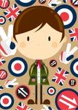 Mod chłopiec w Parka ilustracji