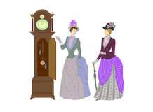 Mod dam i zegarków moda ilustracja wektor