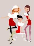 mod dziewczyny trzy ilustracja wektor