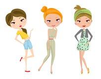 mod dziewczyny trzy royalty ilustracja