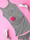 Mod Eleganccy akcesoria Projekta Partyjny strój Obrazy Royalty Free