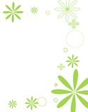 Mod flowers bright green. Bright green floral scene Stock Image