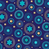 Mod jewish star background pattern. Mod jewish star vector background pattern on blue stock illustration