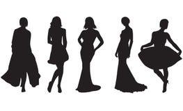 mod kobiety royalty ilustracja