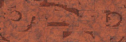 Mod?le abstrait de fond en m?tal de corrosion rendu 3d illustration libre de droits