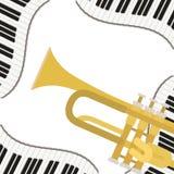 Mod?le d'instrument de musique de trompette illustration stock