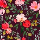 Mod?le floral d'aquarelle illustration de vecteur
