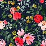Mod?le floral d'aquarelle illustration stock