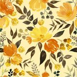 Mod?le floral d'aquarelle illustration libre de droits