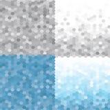 Mod?le Frosty Morning r?gl? de triangle Milieux g?om?triques sans couture de vecteur ENV 10 illustration stock