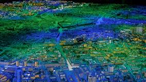Mod?le interactif de la ville 3D de Moscou banque de vidéos