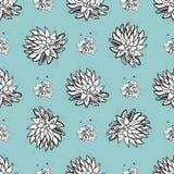 Mod?le sans couture de vecteur de cactus Illustration succulente verte bleue tirée par la main de cactus de vecteur Papier peint  illustration stock