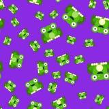 Mod?le sans couture des grenouilles illustration de vecteur