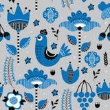 Mod?le sans couture floral folklorique illustration stock