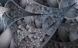 Mod?les et formes abstraits de fractale Texture de fractale illustration libre de droits