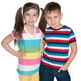 Mod małe dzieci fotografia stock