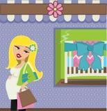 Mod Mamma kupujący Obraz Royalty Free