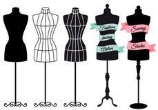 Mod mannequins, wektorowy set Fotografia Stock