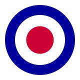 Mod music symbol. British Royal Air Force roundel, also used as symbol of mod music Royalty Free Stock Photography