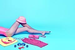 Mod odzieżowych akcesoriów Elegancki set strój Zdjęcia Stock