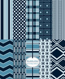 Seamless Repeating Patterns - Mod Prints Stock Image