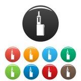 Mod pudełka ikona ustawiający kolor ilustracji