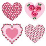Mod rose valentine hearts Royalty Free Stock Image