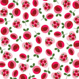 Mod roses and hearts valentine pattern Royalty Free Stock Photos