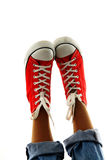 Mod sneakers Zdjęcia Royalty Free